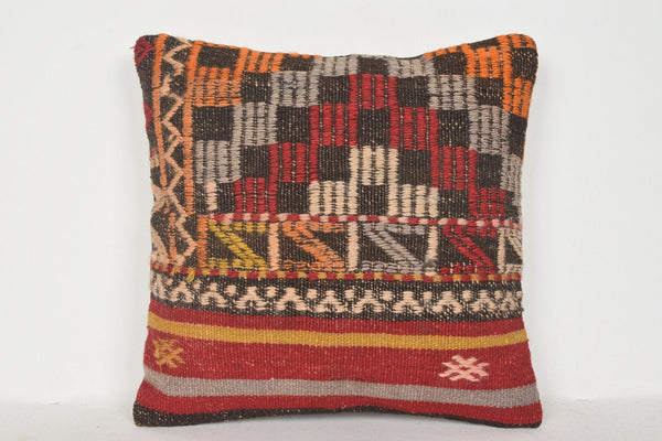 Kilim Rugs Gold Coast Pillow D00743 16x16 Primary Large Professional