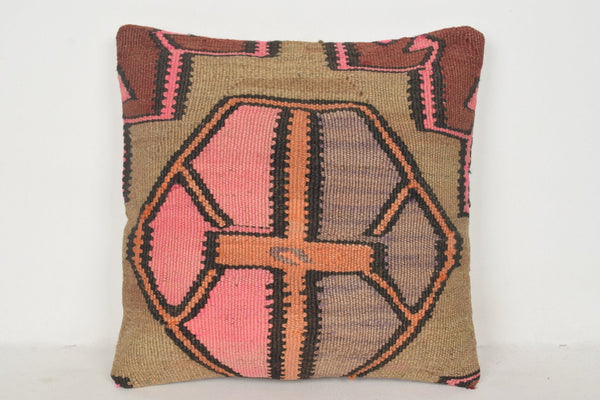 Kilim Floor Cushions Australia C00543 18x18 Modern Knitting Handicraft