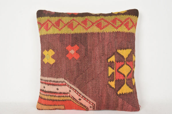 Kilim Couch Cushion C00246 18x18 Excellent Modernistic Bench