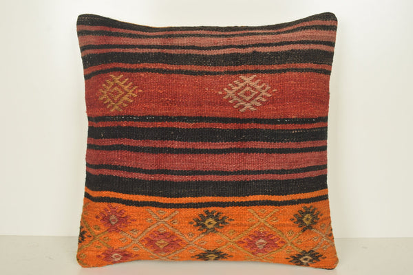 Romanian Kilim Rugs Pillow B02246 20x20 Eastern Bed Bench