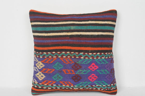 Old Turkish Homemade Kilim Easter Pillow Adorning Cover Designer 16x16