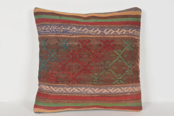 Kilim Pillow Covers made in Turkey D00347 16x16 Northern Geometric Mexican