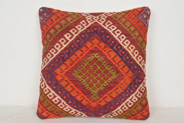 Floral Turkish Pillow C00447 18x18 Hand knot Handknit Cottage