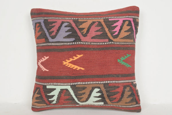 Kilim Rug in Kitchen Pillow D01248 16x16 Old Gypsy Best