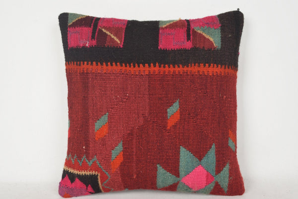 Moroccan Kilim Floor Cushion C00249 18x18 Native Accents Normal