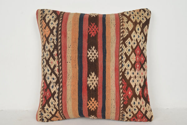 Vintage Turkish Rugs NZ Pillow B01250 20x20 Unique Western Mexican