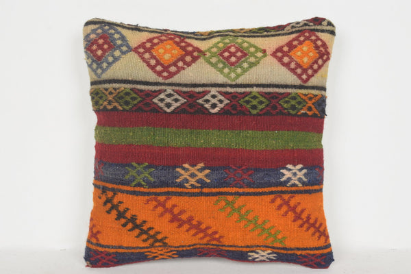 Large Turkish Cushion Covers D00505 16x16 European Wool Pouf