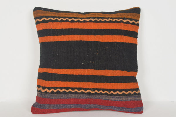 D00305 Turkish Pillow Covers 16x16, Woolen cushions 16x16, Geometric pillow cover 16x16