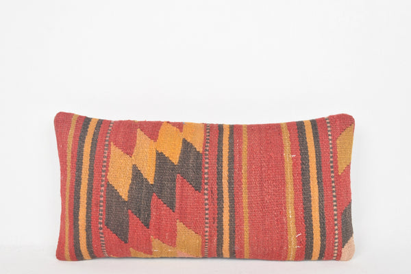 Kilim Floor Pillow Cushion G00216 Flat Weaving Geometric Woollen