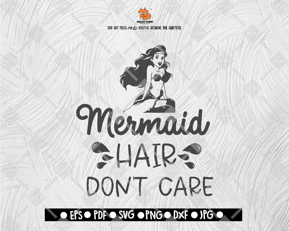 The Little Mermaid Svg File Mermaid Hair Don Care Svg Silhouette Cut F Svgcafe Studio