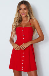 Free Spirit Dress Fiery Red