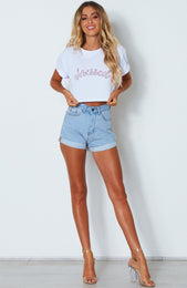 """I'm So..."" Slogan Crop White"