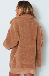 Downtown Teddy Jacket Camel