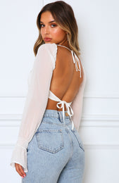Sheer Perfection Crop White