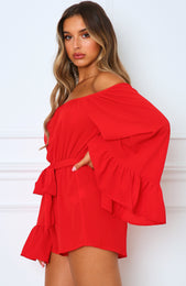 Mornington Playsuit Cherry