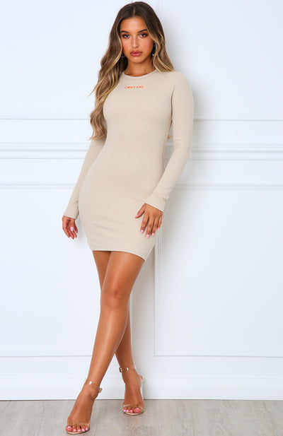 Still The One Mini Dress Sand