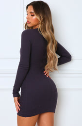 Still The One Mini Dress Charcoal