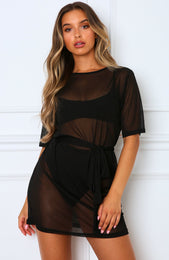 Down For That Mesh Dress Black