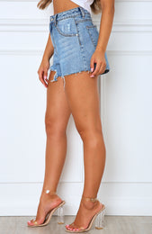 Bring It On Denim Shorts Blue