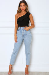 High Holiday Crop Black