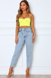 Most Wanted Crop Neon Yellow