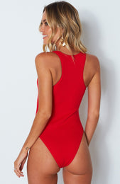 Bet You Do Bodysuit Red