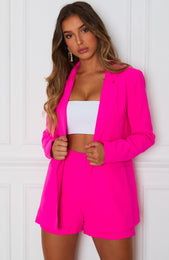 Get In Line Blazer Hot Pink