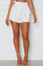 Lani Tie Shorts Off White