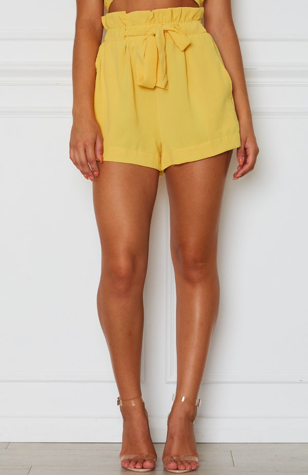 Lani Tie Shorts Yellow