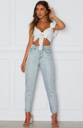 Set Sail Crop White