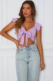 Set Sail Crop Lilac