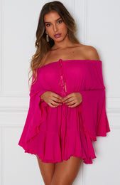 Summer Dreams Romper Fuchsia