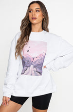 Great Escape Oversized Sweater White