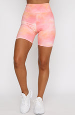 Kelly Bike Shorts Pink Sunset