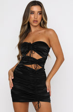 Midnight Glow Mini Dress Black