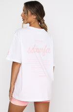 Chill Summer Vibe Oversized Tee White