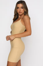 You'll Be Back Mini Dress Nude