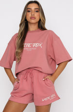 Step Back Oversized Tee Berry