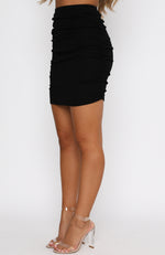Burning Skies Mini Skirt Black
