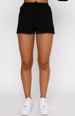 All Day Long Knit Shorts Black