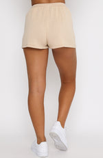 All Day Long Knit Shorts Beige
