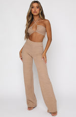 Self Made Crop Beige