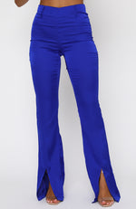 Fair Play Satin Pants Electric Blue