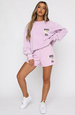 Must Be Love Oversized Sweater Purple