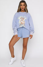 She's A Dream Oversized Sweater Sky Blue