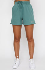 How Could I Forget Lounge Shorts Teal