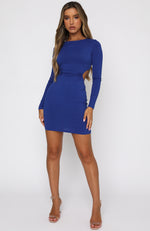 Glimmer Of Light Long Sleeve Mini Dress Blue