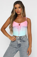 Style Muse Crop Pastel Ombre