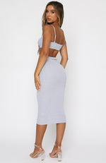 Level Headed Midi Dress Ice Blue