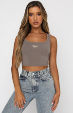 Power Woman Crop Mocha